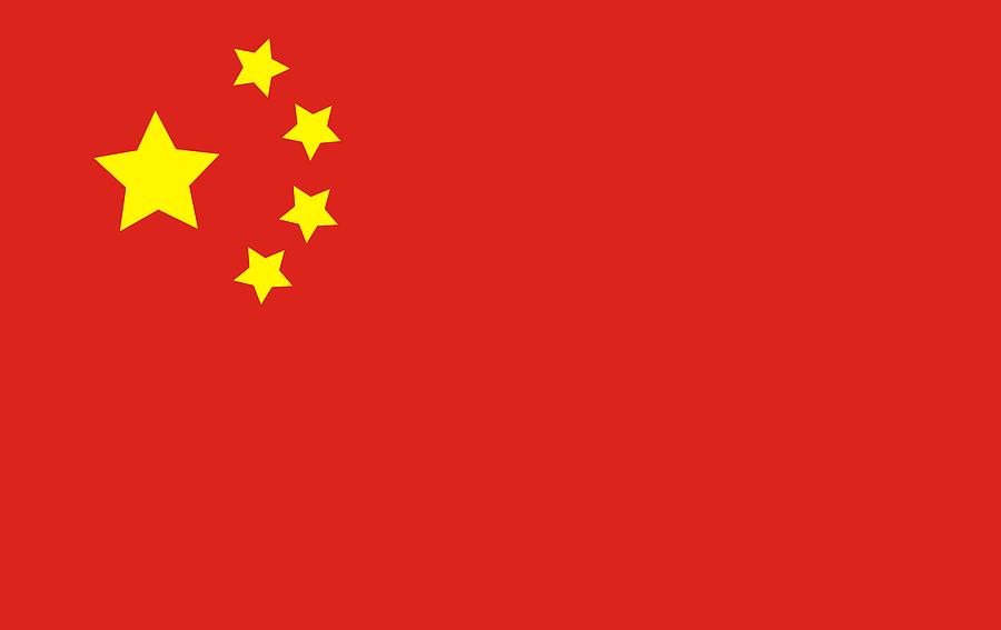 Intrepid image within china flag printable